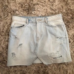 Light washed jean skirt